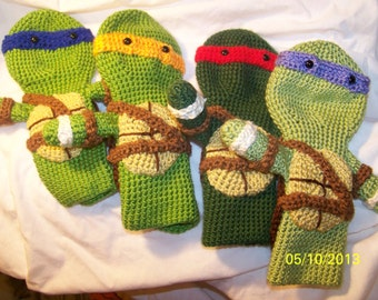 Crochet Teenage Ninja Turtles golf club cover  Geat for Fahter's Day
