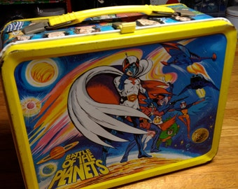 1979 Battle of the Planets anime TV show Sandy Frank Thermos metal lunch box lunchbox RAD