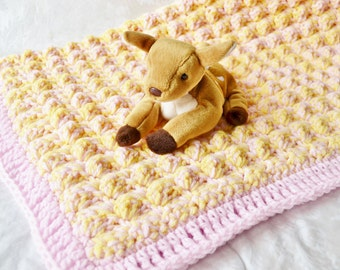Crochet Baby Blanket, Crochet Blanket for Girls, Baby Blanket