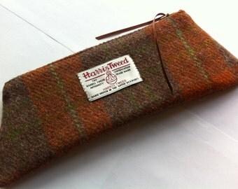 Harris tweed pencil case made in Scotland
