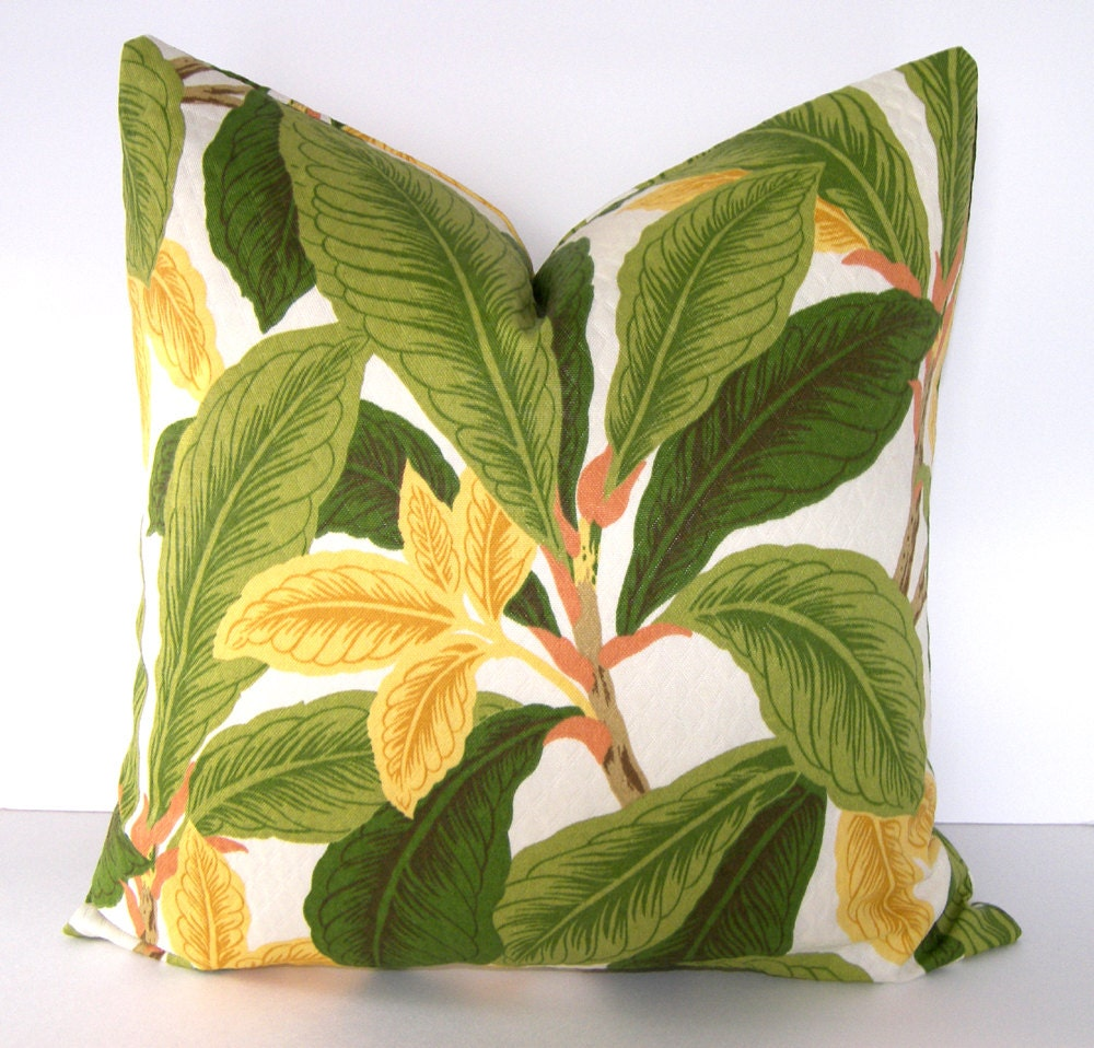 Indoor Outdoor Tropical Decorative Pillow Cove