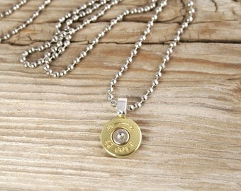 Bullet Necklace / Men's Brass Bullet Head Necklace ANY-#-N/B-MBHN / Bullet Head Necklace / Brass Necklace / Gold Necklace / Custom