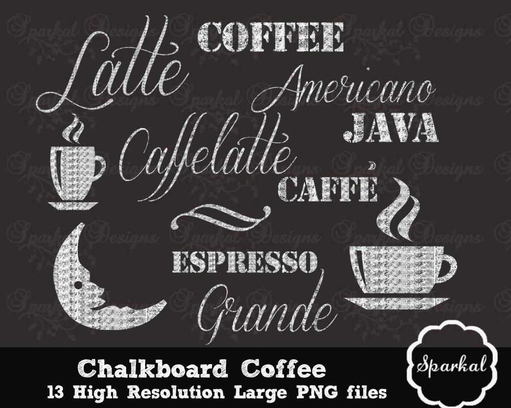 Chalkboard Coffee Clipart Coffee Clip Art By