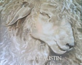 Sheep painting,  Fine art giclee print of a sweet sheep taking a little rest...