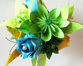Get Well Soon Paper Flower bouquet- hospital friendly, eco friendly, one of a kind gift, origami, rose, lily, butterfly