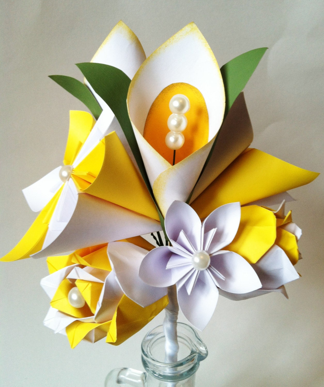 Make a paper calla lily - sweetlivingmagazine.co.nz