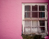 Pink Window Print, Travel Photography, Lisbon Print, European Photography, Window, Girls Room Decor - My lonely window