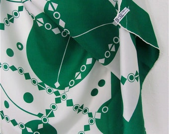 The Emerald Green and White Geometric Baar and Beards Scarf