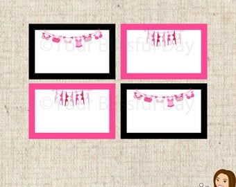 PRINTABLE Bra-line Bachelorette Party Label Tents #803