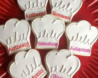 Personalized Chef Hat Sugar Cookie Collection