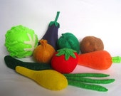 Felt food vegetable set eco friendly children's pretend play food toy for play kitchen