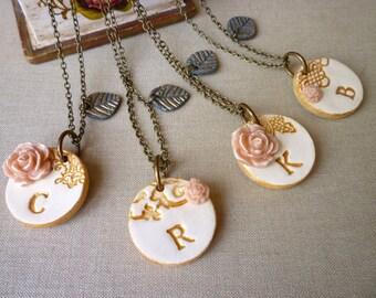 Bridal Jewelry - Simplicity Bridesmaids Necklaces - Set of 4