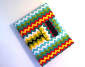 iPad Mini Case, iPad Mini Cover, iPad Mini Folding Stand in Modern Multicolored Chevron