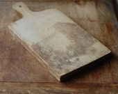 Antique Wood Cutting Board with Rustic Patina - Vintage Bread Board - FrogGoesToMarket