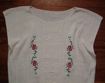 women's vintage sleeveless sweater.