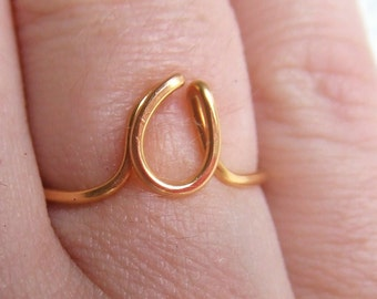 Initial Ring, Letter Ring, Gold Silver Copper, A - Z Letters Custom Made, Simple Ring, Pinky Ring, Bridesmaid Favor Ring, Rings Under 10