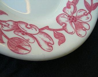 Shenango Restaurant Ware Platter with Red Decoration