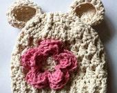 Crochet Bear Hat Newborn Photography Prop