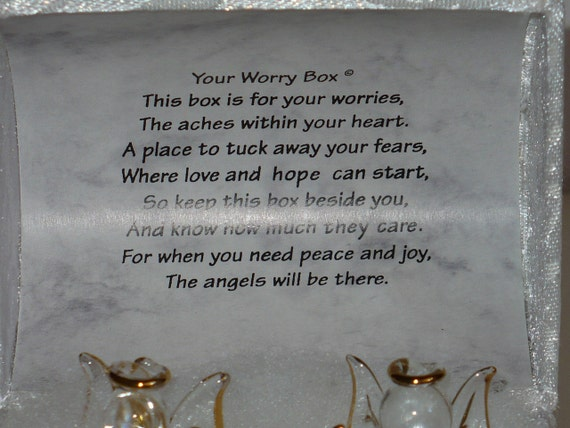 Mother S Day Poem Satin Worry Box With Crystal Angels