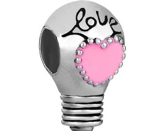 Light bulb Heart Pendant