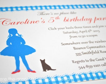Wizard of Oz Invitation Printable