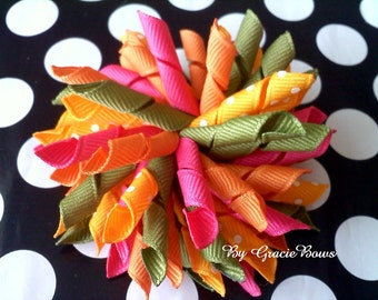Batik Summer Korker Hair Bow