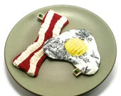 No Stuffing and No Squeaker Dog Toy  Bacon and Eggs Set