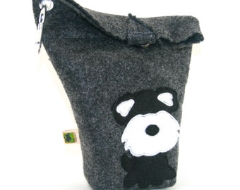 Dog Poop Bag Holder Small Leash Bag Schnauzer