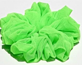 Neon Green Scrunchie in Mesh