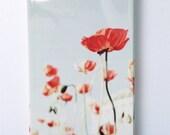 iPhone 4 Case, Floral iPhone 4 Case, Spring, Pastel,  Cute Iphone 4 Case, Poppy iPhone Case-Iphone 4 Case-Iphone 4s Case-
