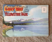Vintage Cody Way to Yellowstone Park Postcard Folder