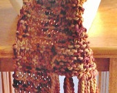 Hand Knit  Merino Wool Scarf