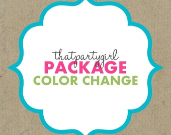 Color change for any Party Package