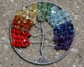 Rainbow Stones Tree of Life pendant I