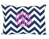 Monogram Pillow, Personalized Wedding Gift,  Decorative Throw Pillow Cover Chevron Personalized Home Decor 12 x 16 Baby Gift Dorm Decor