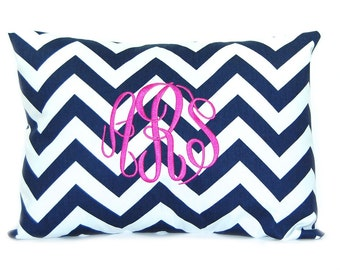Monogram Pillow Cover Throw Pillow, Pillows, Toss Pillow, Accent Pillow Monogrammed Pillow Cover12 x 16 Baby Gift Dorm Decor Bridesmaid Gift