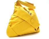 LARGE TOTE BAG  /  hb yellow handbag / yellow purses / tote bag / diaper bag - Hashibags