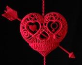 Til Death Do Us Part (heart skull with anchor sculpture)
