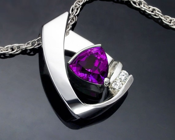 Amethyst and White Sapphire Necklace