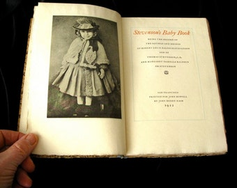 Robert Louis Stevensons Baby Book Rare Book 131 of 500 Made  1922