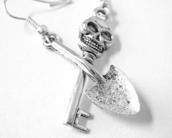 Mismatch Zombie Apocalypse Earrings -  Zombie Earrings - Sterling Silver Zombie Jewelry - Weird Jewelry - Creepy Jewelry 114 178