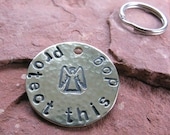 Custom Guardian Angel Pet Tag in Brass