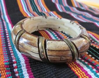 "Vintage Bamboo ""Look"" Bangle Bracelet"