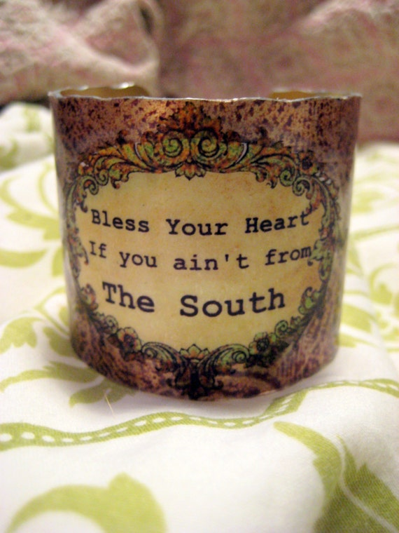 Bless Your Heart Southern Girl Cuff Bracelet Cowgirl