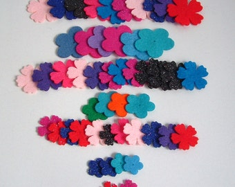 50 Assorted Felt flowers.