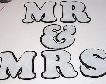 Eco Felt MR & MRS - Shadow Lettering