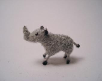 Tiny Rhino for the Dollhouse