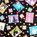 Cat Fabric  Kitty Novelty Material , Caterwauling Tales Cotton Fabric , RJR  Sewing Supply Quilting Supply