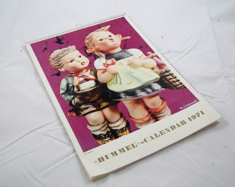 Hummel Calendar 1971 Children Vintage Pictures Retro West Germany Antique M J Hummels Figurines Home Decor