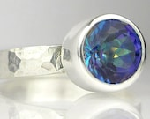 Blue Lagoon Mystic Topaz Sterling Silver Ring